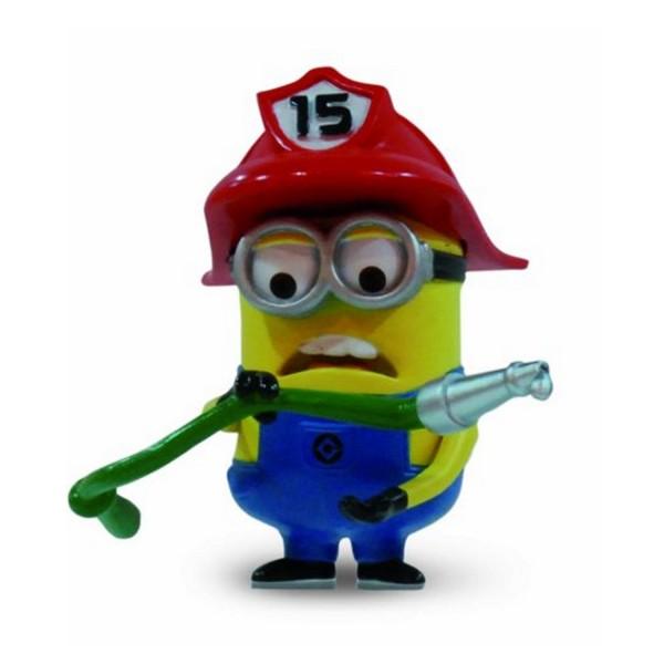 Figurine moi moche et m chant 2 5 cm minion pompier - Minion pompier ...