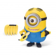 Figurine de luxe Minions : Stuart grignote des bananes