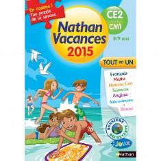 Cahier de vacances Primaire : Du CE2 vers le CM1 Nathan vacances 2015 Tout en un