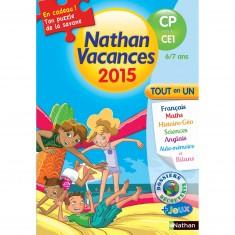 Cahier de vacances Primaire : Du CP vers le CE1 Nathan vacances 2015 Tout en un