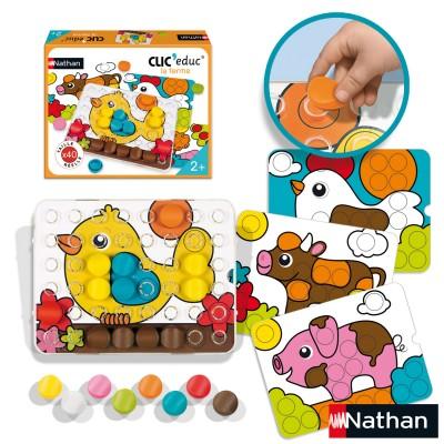 jeu ducatif clic educ la ferme jeux et jouets nathan avenue des jeux. Black Bedroom Furniture Sets. Home Design Ideas