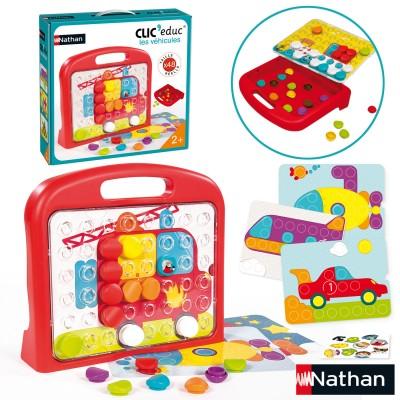 jeu ducatif clic educ v hicules jeux et jouets nathan avenue des jeux. Black Bedroom Furniture Sets. Home Design Ideas