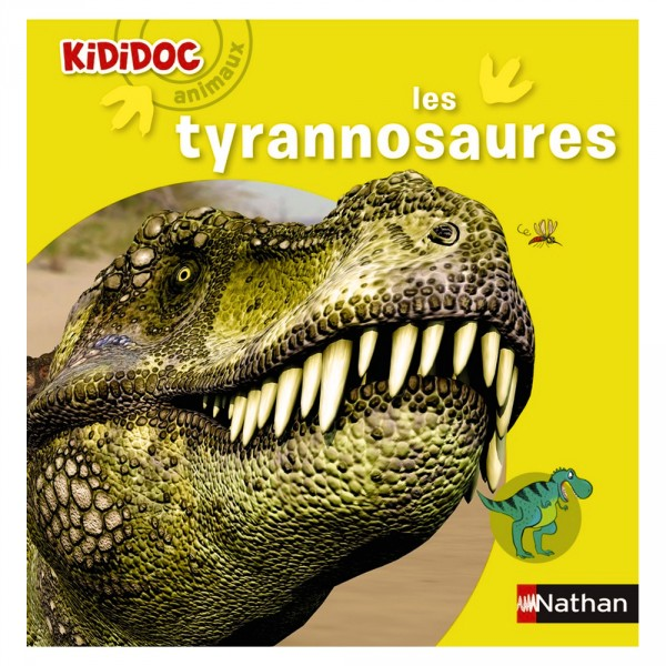Livre Kididoc Animaux : Les tyrannosaures - Nathan-54277