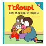 Livre T'choupi dort chez Papi et Mamie