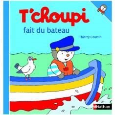 Livre T'choupi fait du bateau
