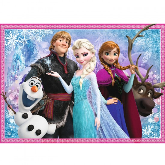 puzzle 100 pi ces la reine des neiges frozen olaf et. Black Bedroom Furniture Sets. Home Design Ideas