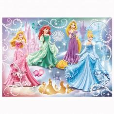 Puzzle 100 pièces : Princesses étincellantes