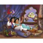 Puzzle 100 pièces - Aladdin : Histoire d'amour