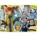 Puzzle 100 pièces : Prêts à servir - Zootopie