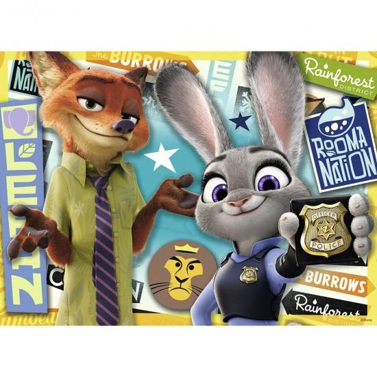 Puzzle 100 pièces : Prêts à servir - Zootopie - Nathan-Ravensburger-86736