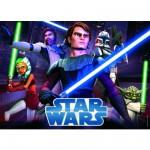 Puzzle 100 pièces - Star Wars : Clone Wars Jedi pour une bataille