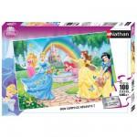 Puzzle 100 pièces XXL - Princesses Disney : Le jardin des princesses