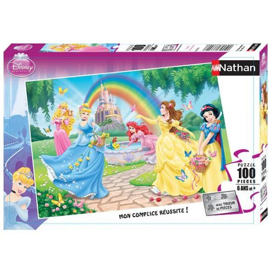 Puzzle 100 pièces XXL - Princesses Disney : Le jardin des princesses - Nathan-Ravensburger-86708