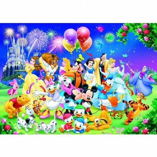 Puzzle 1000 pièces - La famille Disney - Nathan-Ravensburger-87616