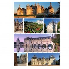 Puzzle 1000 pièces : Les châteaux de la Loire