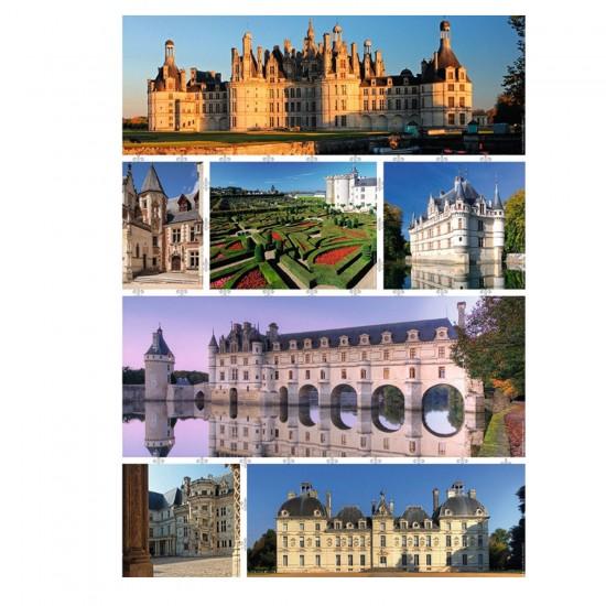 Puzzle 1000 pièces : Les châteaux de la Loire - Nathan-Ravensburger-87598