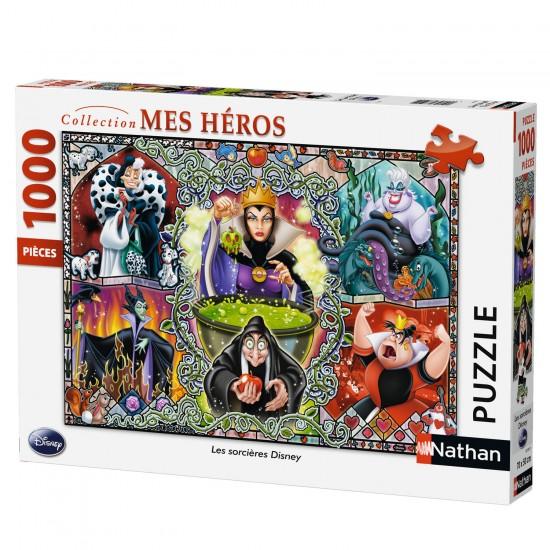 Puzzle 1000 pièces : Les méchantes de Disney - Nathan-Ravensburger-87597