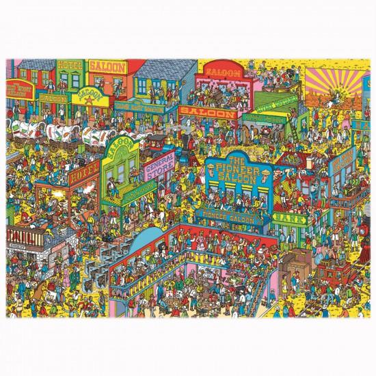 Puzzle 1000 pièces : Où est Charlie ? Cow-Boy - Nathan-Ravensburger-87572