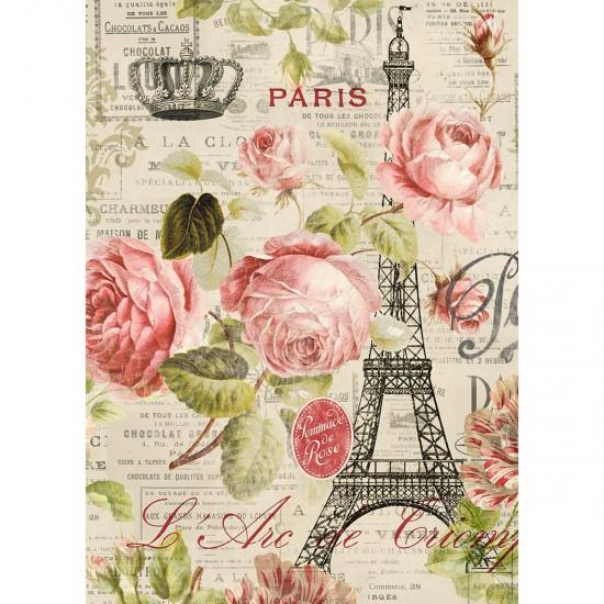Puzzle 1000 pièces : Paris Roses, Tina Higgins - Nathan-Ravensburger-87453