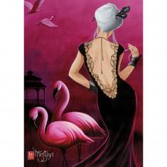 Puzzle 1000 pièces : Pink Flamingo, Misstigri