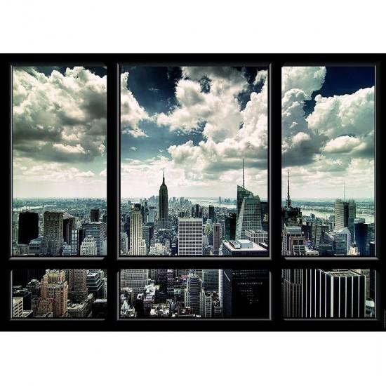 Puzzle 1000 pièces : Vue sur new York - Nathan-Ravensburger-87461