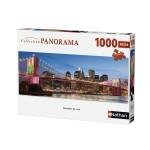Puzzle 1000 pièces panoramique : Brooklyn de nuit