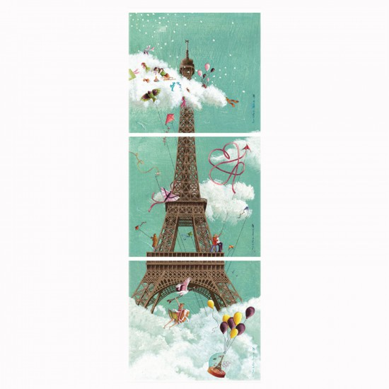 Puzzle 1000 pièces panoramique : Tour Eiffel - Nathan-Ravensburger-87612