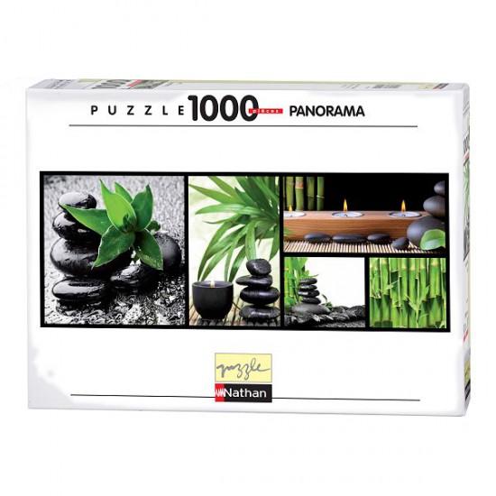 Puzzle 1000 pièces panoramique - Composition zen - Nathan-Ravensburger-87634