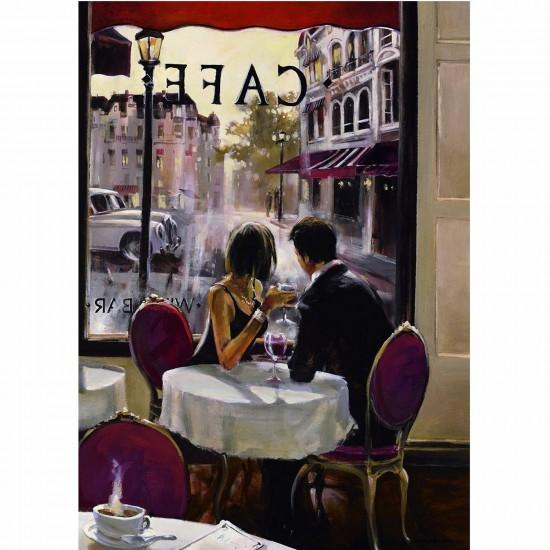 Puzzle 1000 pièces - Pause café - Nathan-Ravensburger-87581