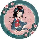 Puzzle 1000 pièces rond Magali Fournier : Une française à Saïgon