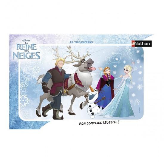 Puzzle 15 pièces : En route pour l'hiver, La Reine des Neiges (Frozen) - Nathan-Ravensburger-86038