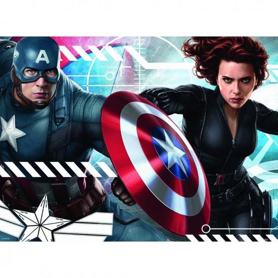 Puzzle 150 pièces : Captain America et la Veuve Noire - Nathan-Ravensburger-86859