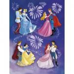 Puzzle 150 pièces - Les princesses et leurs princes