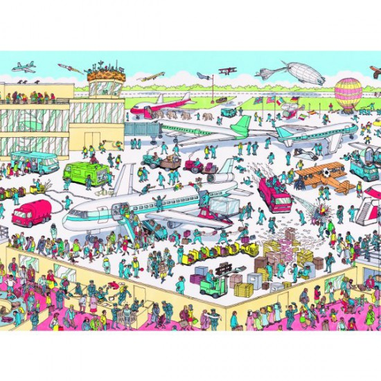 Puzzle 150 pièces Maxi - Où est Charlie ? : Charlie à l'aéroport - Nathan-Ravensburger-86851