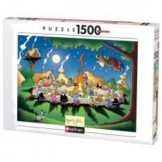 Puzzle 1500 pièces - Astérix et Obélix : Le banquet