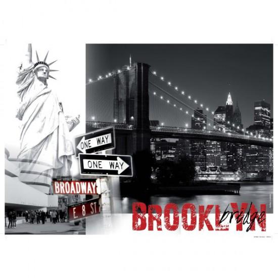 Puzzle 1500 pièces - New York : Brooklyn Bridge - Nathan-Ravensburger-87738
