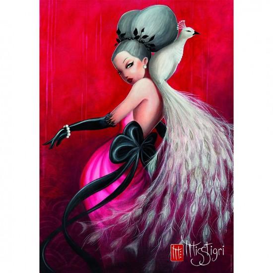 Puzzle 1500 pièces : Collection Artiste : La danse du paon par Misstigri - Nathan-Ravensburger-87767