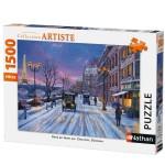 Puzzle 1500 pièces Collection Artiste : Paris en hiver par Dominic Davison