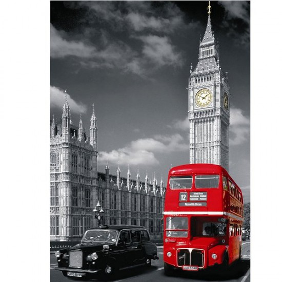 puzzle 1500 pi ces londres et ses bus rouges puzzle nathan rue des puzzles. Black Bedroom Furniture Sets. Home Design Ideas