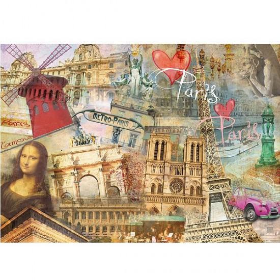 Puzzle 1500 pièces - Paris Métropolitain - Nathan-Ravensburger-87728