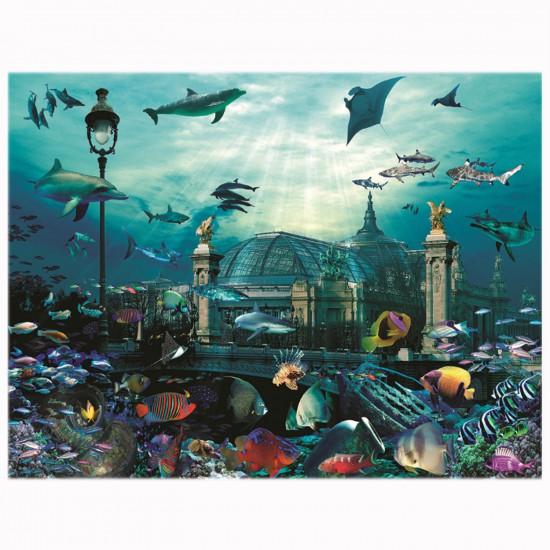 Puzzle 2000 pièces : Grand palais aquarium - Nathan-Ravensburger-87874