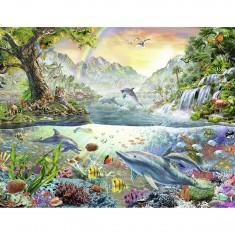 Puzzle 2000 pièces : Le paradis des dauphins