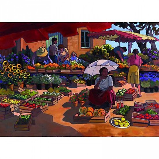 Puzzle 2000 pièces - Femmes au marché - Nathan-Ravensburger-87859