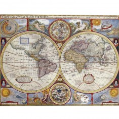 Puzzle 2000 pièces - Planisphère historique