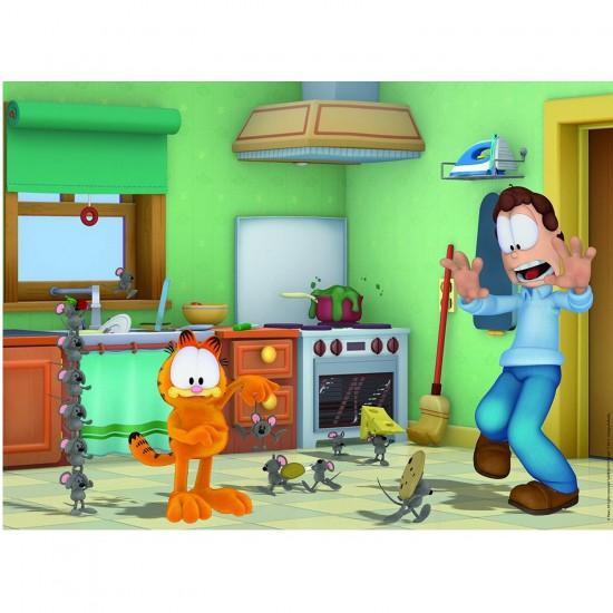 Puzzle 250 pièces maxi : Garfield Chasseur de souris ? - Nathan-Ravensburger-86903