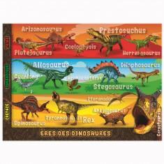Puzzle de 250 pièces XXL : L'ère des dinosaures