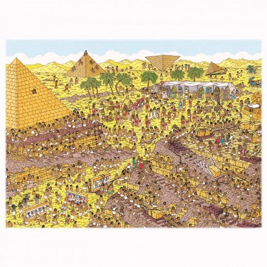 Puzzle 250 pièces XXL : Où est Charlie ? Au temps des pharaons - Nathan-Ravensburger-86916