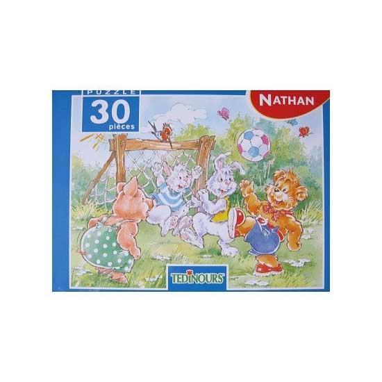 Puzzle 30 pièces - Tedinours et la partie de football - Nathan-Ravensburger-86373