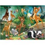 Puzzle 30 pièces : Bambi : Promenade en famille