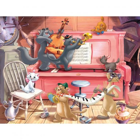 Puzzle 30 pièces : Concert d'aristochats - Nathan-Ravensburger-86316